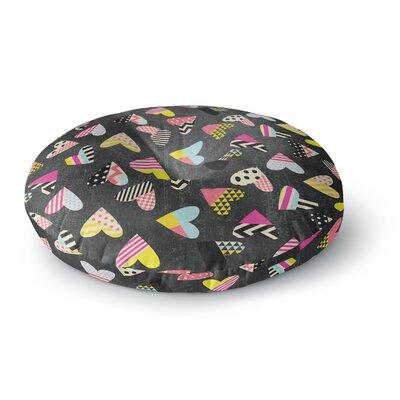 Louise Machado Pieces of Heart Round Floor Pillow Size: 23 x 23