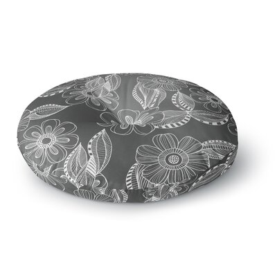 Louise Machado Floral Ink Round Floor Pillow Size: 23 x 23