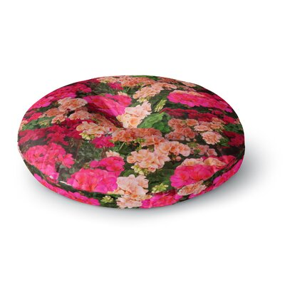 Louise Machado Geranios Floral Round Floor Pillow Size: 26 x 26
