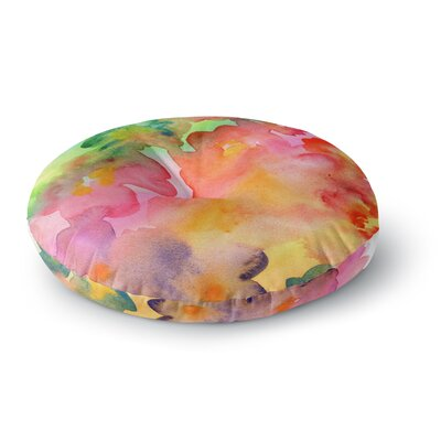Louise Machado Spring Colors Watercolor Floral Round Floor Pillow Size: 23 x 23
