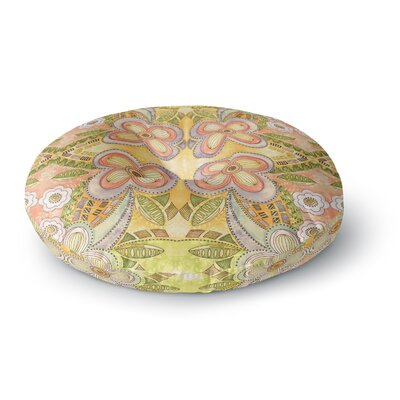 Louise Machado Ethnic Floral Illustration Round Floor Pillow Size: 26 x 26