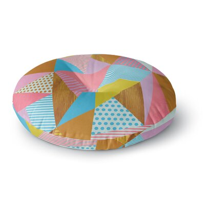 Louise Machado Cycle Chic Vector Round Floor Pillow Size: 26 x 26