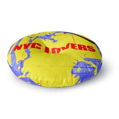 Lazar Milanovic NYC Lovers Round Floor Pillow Size: 23 x 23