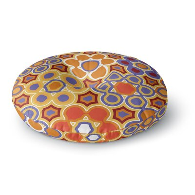 Laura Nicholson Flower Garden Round Floor Pillow Size: 26 x 26