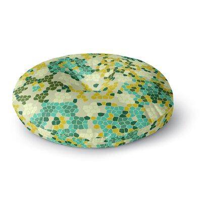 Laura Nicholson Flower Garden Mosaic Round Floor Pillow Size: 26 x 26