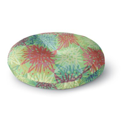 Laura Nicholson Multi Lacy Round Floor Pillow Size: 26 x 26