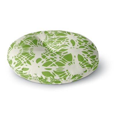 Laura Nicholson Drawnwork Round Floor Pillow Size: 26 x 26