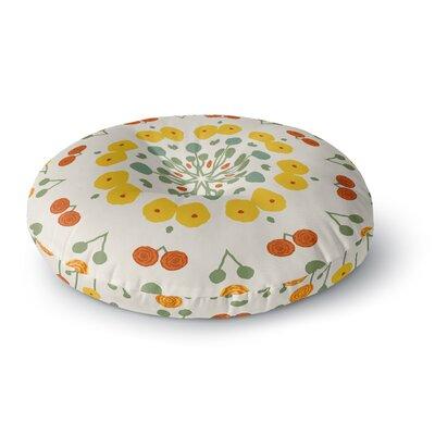 Laura Nicholson Ranunculas Floral Round Floor Pillow Size: 26 x 26
