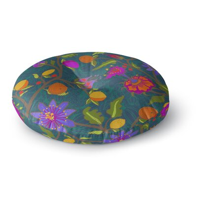 Laura Nicholson Flora Exotica Floral Round Floor Pillow Size: 23 x 23