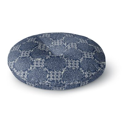 Laura Nicholson Indigo Lattice Round Floor Pillow Size: 26 x 26
