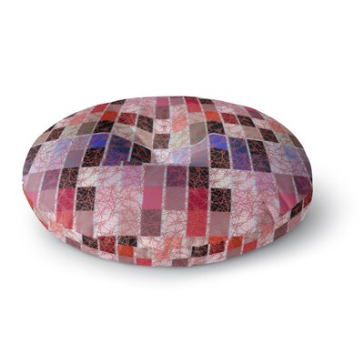 Laura Nicholson Ruby Tiles Round Floor Pillow Size: 23 x 23