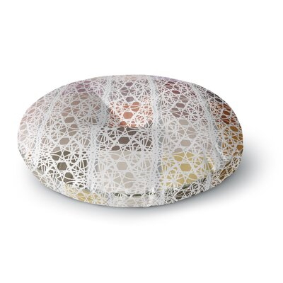 Laura Nicholson Thatch Plaid Round Floor Pillow Size: 23 x 23
