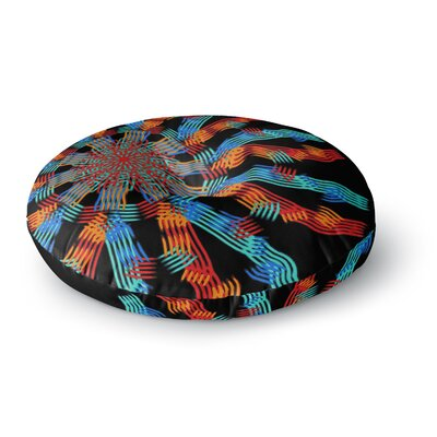 Laura Nicholson Ribbon Ring Abstract Round Floor Pillow Size: 26 x 26