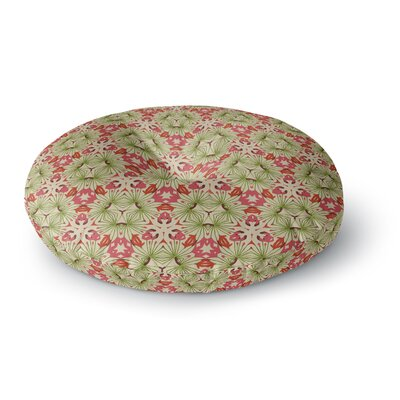 Laura Nicholson Thalia, Pink Floral Abstract Round Floor Pillow Size: 26 x 26