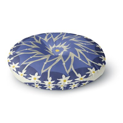 Laura Nicholson Sawtooth Flower Nature Round Floor Pillow Size: 23 x 23