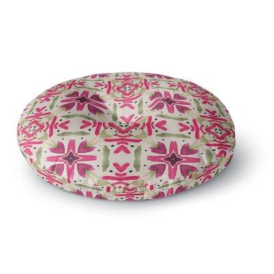 Laura Nicholson Echinacea Garden Geometric Round Floor Pillow Size: 23 x 23