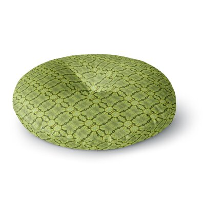 Laura Nicholson Leafy Lozenges Abstract Round Floor Pillow Size: 23 x 23