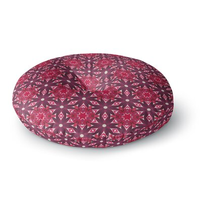 Laura Nicholson Blooming Echinacea Floral Round Floor Pillow Size: 26 x 26