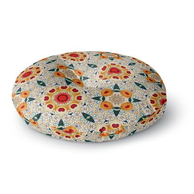 Laura Nicholson Peach Heart Round Floor Pillow Size: 26 x 26