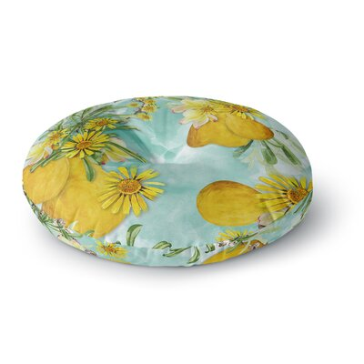 Liz Perez Sunny Day Floral Round Floor Pillow Size: 26 x 26