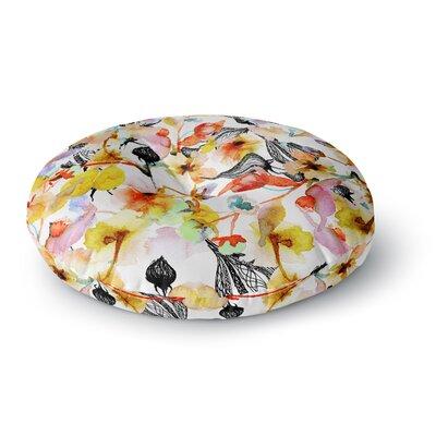 Liz Perez BLOSSOMS Floral Round Floor Pillow Size: 26 x 26