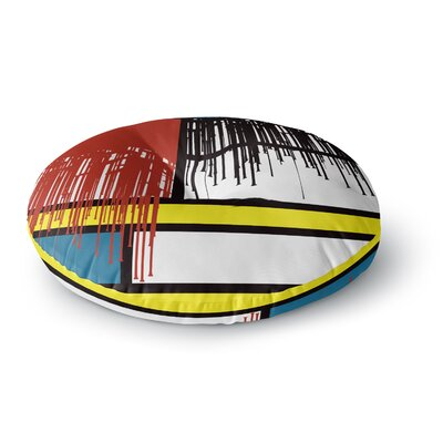 Just L Saint Drips Abstract Round Floor Pillow Size: 26 x 26