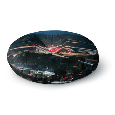 Just L Chasing Lights Round Floor Pillow Size: 26 x 26