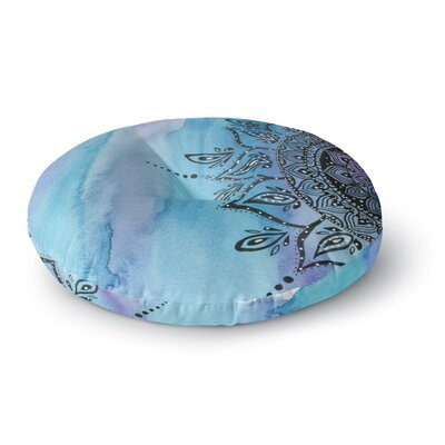 Li Zamperini Blue Mandala Round Floor Pillow Size: 23 x 23