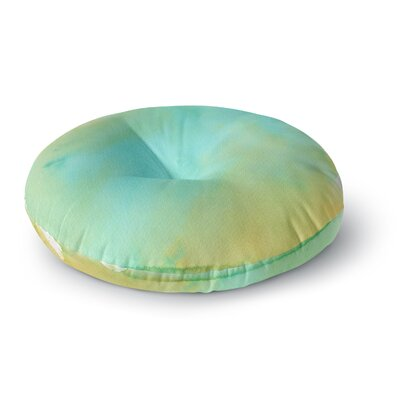 Li Zamperini Mint Round Floor Pillow Size: 23 x 23