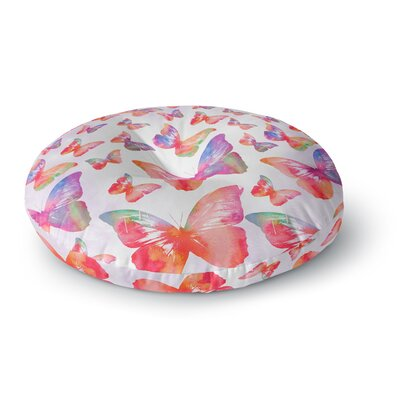 Li Zamperini Butterfly Round Floor Pillow Size: 23 x 23