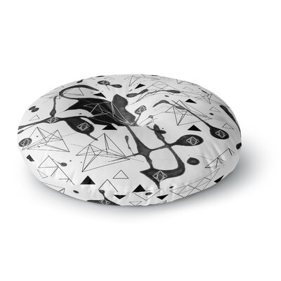 Li Zamperini Geometric Round Floor Pillow Size: 26 x 26