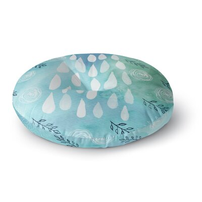 Li Zamperini Rain Round Floor Pillow Size: 26 x 26
