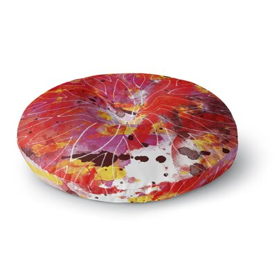 Li Zamperini Flame Round Floor Pillow Size: 23 x 23