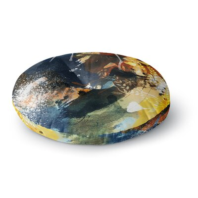 Li Zamperini Blue Round Floor Pillow Size: 23 x 23