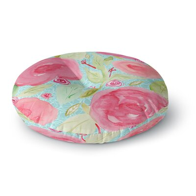 Li Zamperini Spring Floral Round Floor Pillow Size: 26 x 26