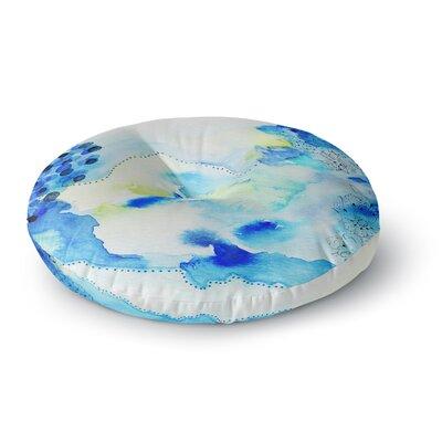 Li Zamperini Deep Blue Sea Watercolor Round Floor Pillow Size: 23 x 23