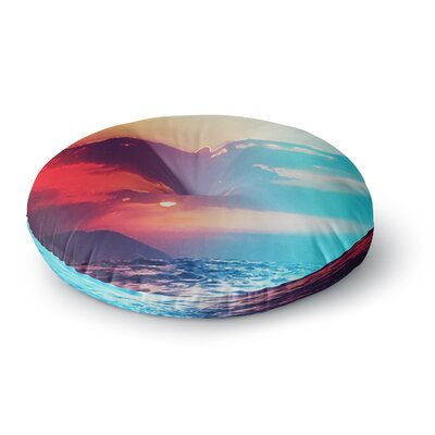 Li Zamperini Summer Round Floor Pillow Size: 26 x 26