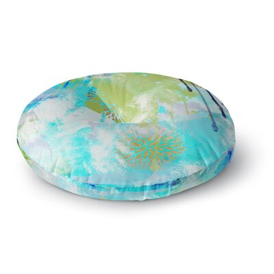 Li Zamperini 'Tropical' Round Floor Pillow Size: 23