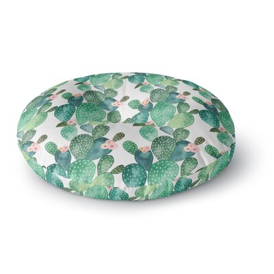 Li Zamperini 'Cactus' Watercolor Round Floor Pillow Size: 26