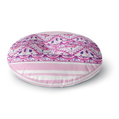 Li Zamperini 'Aztec' Watercolor Round Floor Pillow Size: 26