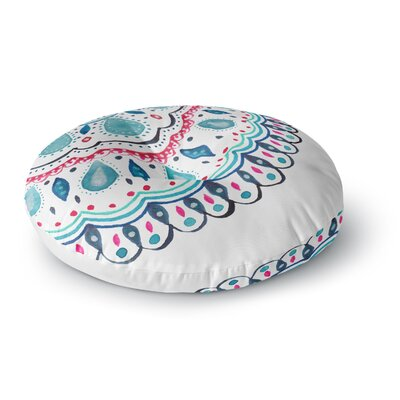 Li Zamperini Doile Watercolor Arabesque Round Floor Pillow Size: 26 x 26