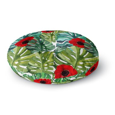 Li Zamperini Tropical Vibes Watercolor Round Floor Pillow Size: 23 x 23