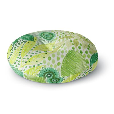 Li Zamperini Green Watercolor Round Floor Pillow Size: 23 x 23