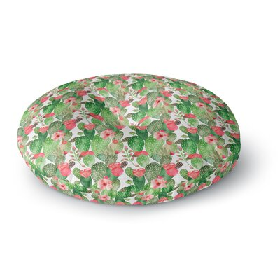 Li Zamperini Cactus Dance Illustration Round Floor Pillow Size: 26 x 26