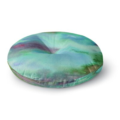 Li Zamperini Island Watercolor Round Floor Pillow Size: 26 x 26