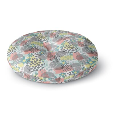 Melissa Armstrong Apples, Drops & Blooms Digital Round Floor Pillow Size: 26 x 26