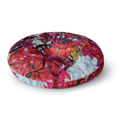 Mary Bateman Bougainvillea Round Floor Pillow Size: 23 x 23
