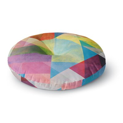 Mareike Boehmer Color Blocking II Rainbow Abstract Round Floor Pillow Size: 26 x 26