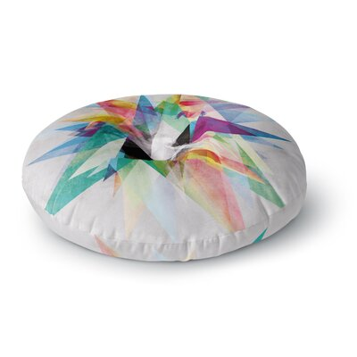 Mareike Boehmer Colorful Rainbow Abstract Round Floor Pillow Size: 26 x 26