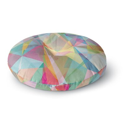 Mareike Boehmer Graphic 32 Rainbow Abstract Round Floor Pillow Size: 26 x 26